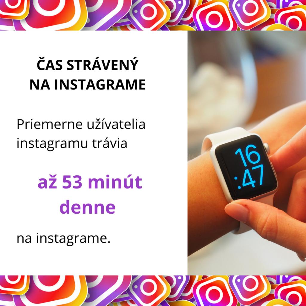 čas strávený na instagrame
