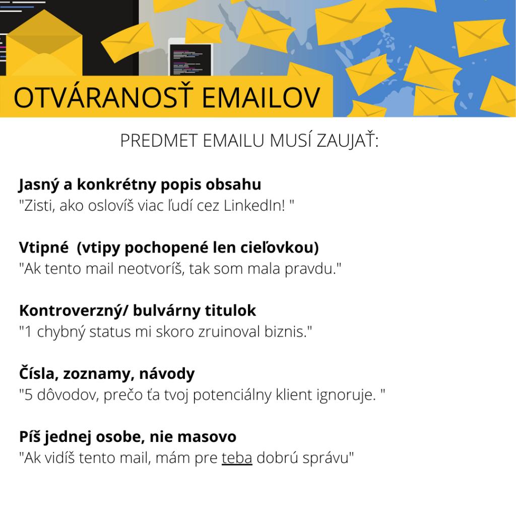predmet emailov
